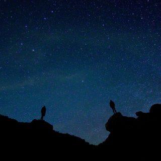 暗闇の中に光る星を見つけて。